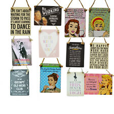 VINTAGE RETRO Funny Love PLAQUE FAMILY Friends Wine Mini Hanging Metal SIGN