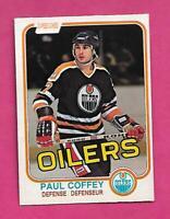 1981-82 OPC # 111 OILERS PAUL COFFEY  ROOKIE EX-MT CARD (INV# D0162)