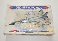 Lindberg MiG-31 Foxhound A Soviet Interceptor Airplane Model Kit 1/48 Sealed