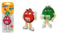 2 x Pack M&M's Berry Apple Scent Air Fresheners Hang Car Home Office Freshener