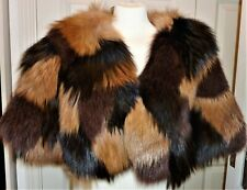 Yves Salomon fox fur £2500 jacket size M lamb leather inside silk lined