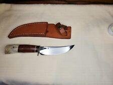 VINTAGE SCAGEL BY J. HOLBERT KNIFE HUNTING, CAMP, FISH, ETC. JIM LAYTON SHEATH