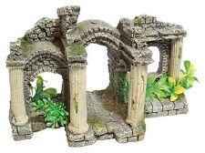 Ancient Roman Ruin Pavilion & Plants Decoration Ornament for Aquarium Fish Tank