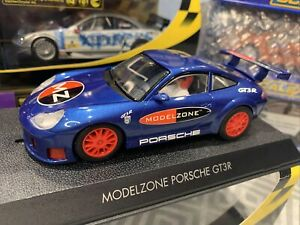 SCALEXTRIC PORSCHE 911 GT3R MODELZONE BLUE A MUST FOR EVERY COLLECTOR C2470 New