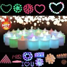 5X 10X Mini Colorful Romantic Electronic LED Candle Light For Party Wedding Deco