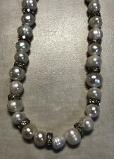"""New 17"""" NATURAL Culture Freshwater White PEARL NECKLACE"""