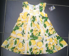 ВNWT Girls' Party Outfit • Lemon Lace Embroidered Dress • 100% Cotton • 3 Years