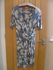 Monsoon Blue Floral Dress Size 14 (Ref K)
