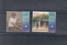 El Salvador 2005 America Poverty Sc 1634-1635 Mint Never Hinged