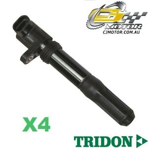 TRIDON IGNITION COIL x4 FOR Fiat  500 1.4 (DOHC) 02/08-06/10, 4, 1.4L 169A