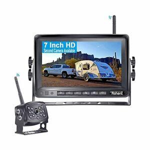NEW Rohent HD Digital Wireless Backup Camera 7'' Monitor High-Speed Observati...