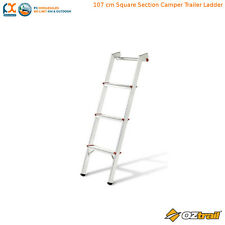 OZtrail 107 cm Square Camper Trailer Ladder - CCTA-L107-D ALUMINIUM