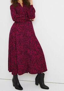 JD WILLIAMS LADIES ANIMAL PRINT MAXI SHIRT DRESS PINK NEW (ref 714R)
