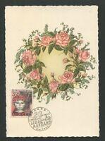 CSSR MK 1962 FLORA ROSEN ROSE ROSES MAXIMUMKARTE CARTE MAXIMUM CARD MC CM d7950