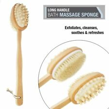 Double Side Body Bath Brush Massage Loofah Back Scrubber Shower All Skin Types