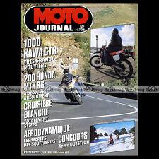 MOTO JOURNAL N°736 HONDA MTX 200 R, KAWASAKI 1000 GTR, APRILIA 250, TOUQUET 1986