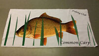 Common Carp Angling hand towel personalised with name or club