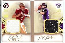 2011 EXQUISITE BOOKMARKS ANDY DALTON /CHRISTIAN PONDER RC DUAL AUTO JERSEY 23/40