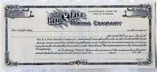 Big Five Mining Company Stock Certificate Wyoming