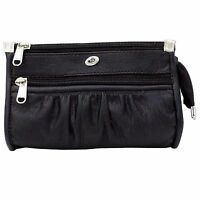 Black New Clutch Faux Leather Wallet Evening Party Hand Bag Purse Women Fashion