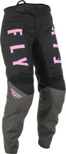 2022 Fly Racing Youth F-16 Motocross Pants Aqua Teal Pink ATV Dirt Bike SXS