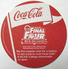 COCA-COLA 2012 NCAA FINAL FOUR Soda COASTER Mat, Friday's New Orleans Win A Trip
