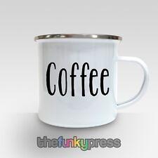 caffè tazza smaltata di tè CIOCCOLATA CALDA regalo compleanno CAMPEGGIO