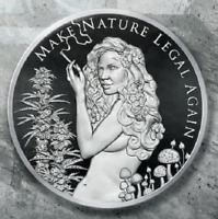 2019 1oz MAKE NATURE LEGAL AGAIN SILVER SHIELD GROUP .999 AG CANNABIS SSG  777