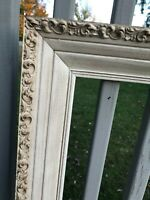 Antique Ornate Wood Carved Frame Picture Photo Gesso Painting Gold Gilded 30x24