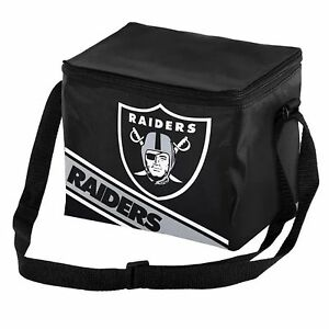 Oakland Raiders NFL Insulated Lunch Bag Cooler 100% Licensed 6Pack