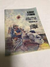VINTAGE ALBRIGHT FOOTBALL LIONS 1984 PROGRAM BOOK VS LYCOMING WARRIORS OCTOBER