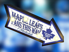 RETRO BUDWEISER BUD Toronto Maple Leafs MARQUEE JERSEY BEER BAR LIGHT BOX SIGN