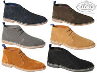 Mens Suede Desert Boots Catesby Leather Lace Up Smart Casual Ankle Chukka Boots