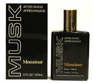Monsieur Musk By Dana For Men Aftershave, 4 Oz
