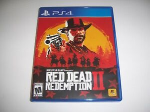 Original Case Box Replacement Sony PlayStation 4 PS4 Red Dead Redemption II 2