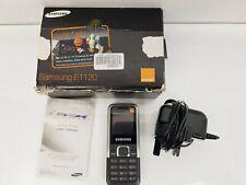 Samsung E1120 teléfono móvil (Naranja Red) con caja y el folleto de instrucciones