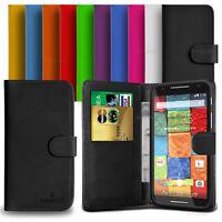 Custodia Case Flip Cover Pelle Portafogli Libro Per Motorola Moto X 2014