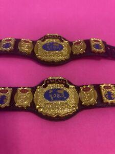 WCW Tag team championship Elite figure belts (2) - WWE WWF NXT Mattel Series 81