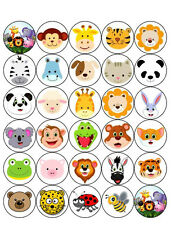 30  PRE-CUT ANIMALS INSECTS JUNGLE CUP CAKE EDIBLE RICE WAFER  PAPER TOPPERS