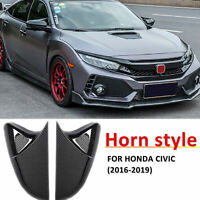 Carbon Fiber Pattern Side Mirror Cover Trim Cap For Honda Civic 2016 2017 18