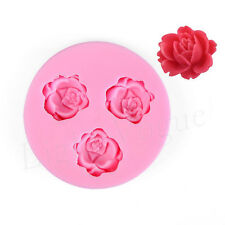 DIY Silicone Mould Roses Modelling Double Sugar Cake Jelly Pudding Baking Tools