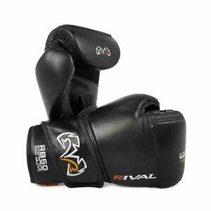 Rival Boxing Bag Gloves - RB50 Black Intelli-Shock Compact