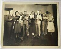 Vintage Radio Station 7 Actors Photo By N B C Studios