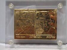 1993 HIGHLAND MINT NOLAN RYAN GOLD CARD #385/500 BOX & COA RANGERS METS