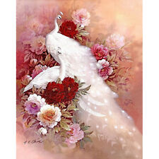 Diamond Painting White Peacock DIY 3D Cross Stitch Decorative Wall Painting Sell