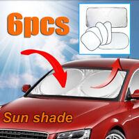 6 PCS Sun Shade Car Foldable Window Windscreen Visor Screen Reflective Cover