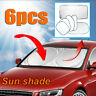 6 PCS Sun Shade Car Foldable Window Windscreen Visor Screen Reflective Cover