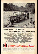 "1963 INTERNATIONAL SCOUT 4WD AD A1 CANVAS PRINT POSTER FRAMED 33.1""x23.4"""