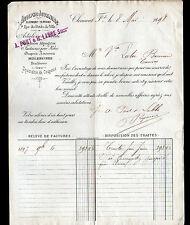 "CLERMONT-FERRAND (63) TISSUS en gros ""Adolphe JOURNIAC / PONT & LABBE Succ"" 1898"