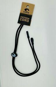 Costa Del Mar FATHOM CORD Eyewear Leash NEW - strap, retainer, black